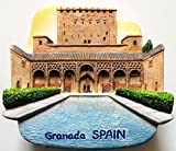Alhambra Palace Granada SPAIN Resin 3D fridge Refrigerator Thai Magnet Hand Made Craft. by Thai MCnets