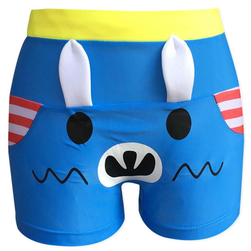 RUIYI Boy Swimming Trunks with Ears Kid Cute Expression Adjustable Swim Bottom 2PCS