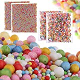 [4-Pack] Foam Balls for Slime,Mini-Medium Assorted Sizes Styrofoam Balls (0.08-0.32 inch) for Kids, Household School Arts Crafts Supplies, DIY Wedding and Party Decoration (Mixed Colors)