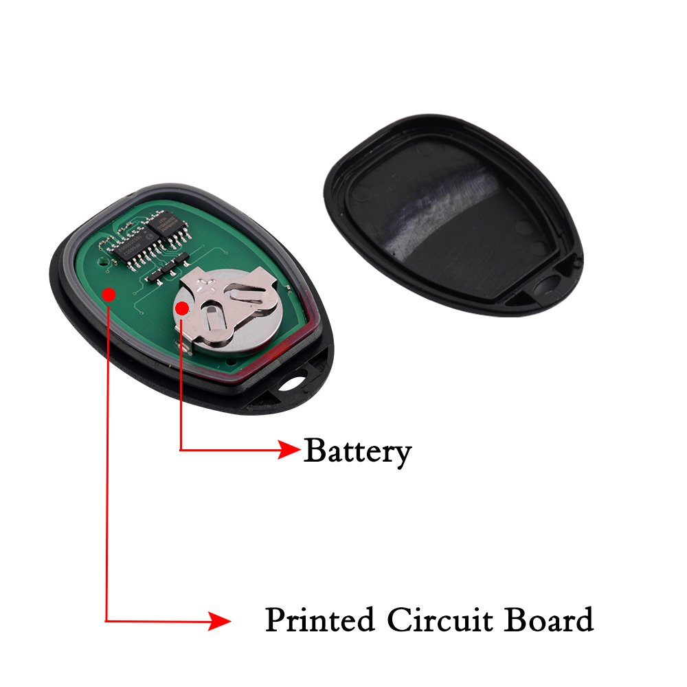 BESTHA 2 New Keyless Entry Remote Control Car Key Fob Replacement 15913427 OUC60270 OUC60221 for Cadillac Escalade Chevrolet Suburban Tahoe GMC Yukon Chevrolet Traverse