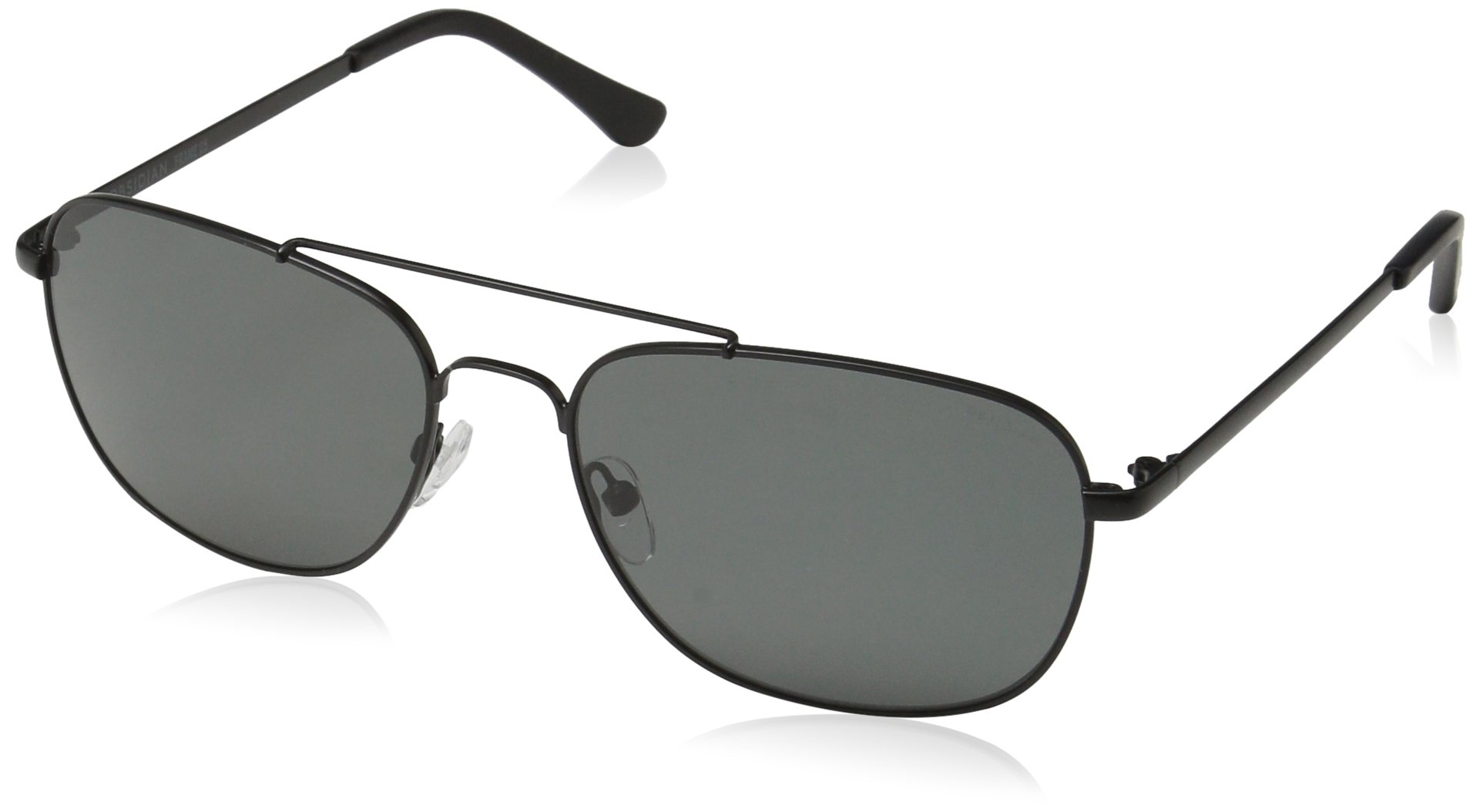 Obsidian Sunglasses for Men Aviator Polarized Rectangle Frame 05, Black, 58 mm by Obsidian Sunglasses