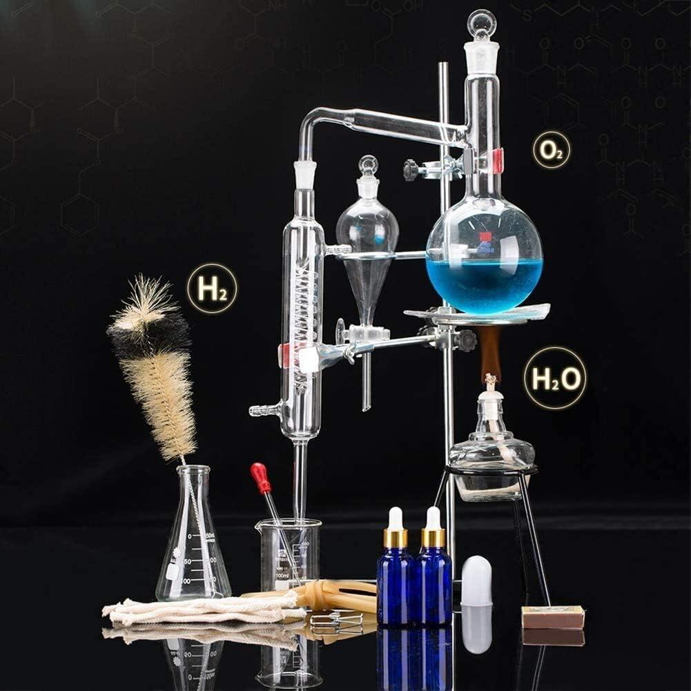 Sucastle Conjunto de Destilación Unidades Alambique destilador de Vidrio de Laboratorio Ciencia 500 Ml: Amazon.es: Hogar