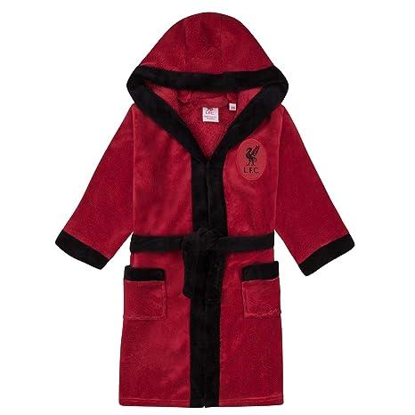 Liverpool FC - Batín Oficial con Capucha - para niño - Forro Polar: Amazon.es: Ropa y accesorios