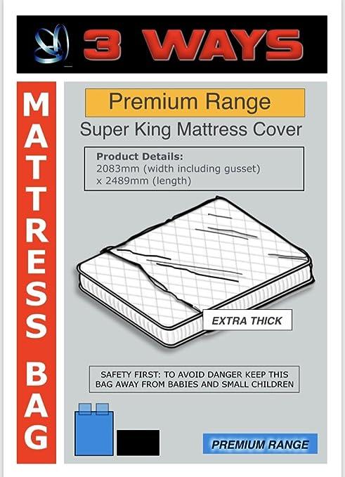 3 Ways Box Shop Super King colchón, Resistente, Ideal para Cuando se cambian de