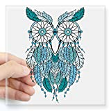 CafePress – Blue Dreamcatcher Owl Sticker – Square Bumper Sticker Car Decal, 3″x3″ (Small) or 5″x5″ (Large)
