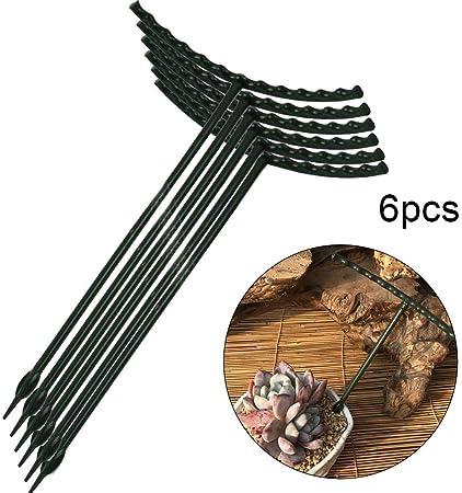 6PCS Garden Trellis Plant Support, Plastic Garden DIY Mini ...