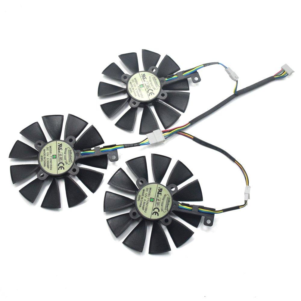 inRobert Video Card Cooling Fan for ASUS GTX 1060/1070/180 Strix GTX980Ti/R9 390X/R9 390 Graphic Card