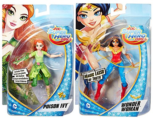 Incredible Hulk Candy (DC Super Hero Girls Wonder Woman with Magic Lasso Action Doll + Poison Ivy Villain Super Hero 6