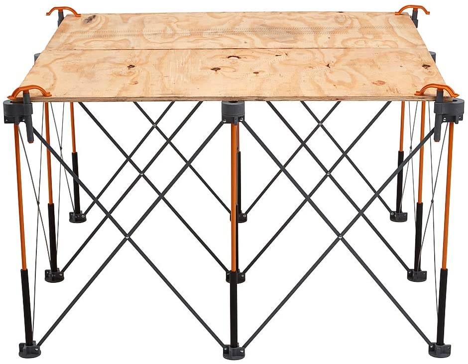 4 Quick Clamps Bora Centipede 4x8 15-Strut Work Stand and Portable Table /& Centipede 4ft x 4ft 9-Strut Work Table Includes 4 X-Cups Portable Work Support Sawhorse Carry Bag CK9S,Black//Orange