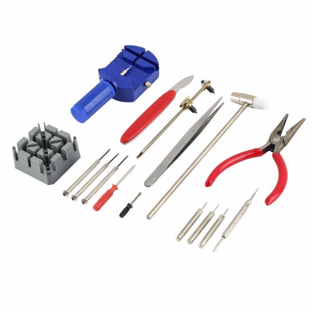 16pc Kit de herramientas de reparación de reloj banda pin correa enlace remover abridor de espalda: Amazon.es: Juguetes y juegos