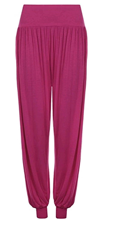 Leisial Pantalones de Yoga Algodón Suave Piernas Pantalones Anchos Sólido Color Elástico Pretina Pantalones Bombachos de Fitness Bailan Deportivo para ...