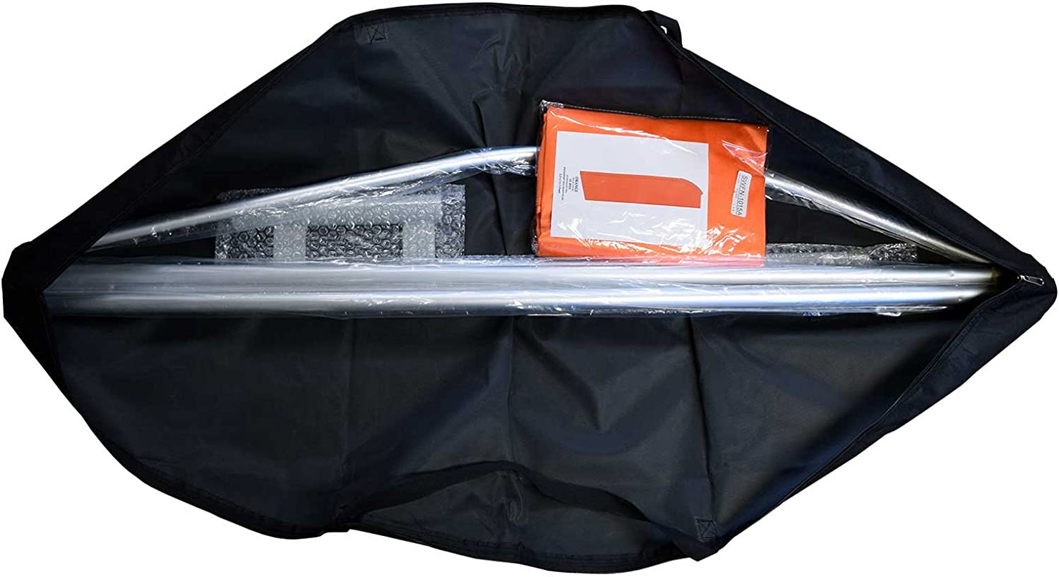 Ground Spike Open House 12-Foot Swooper Feather Flag and Case Complete Set.Includes 12-Foot Flag 15-Foot Pole and Carrying//Storage Case