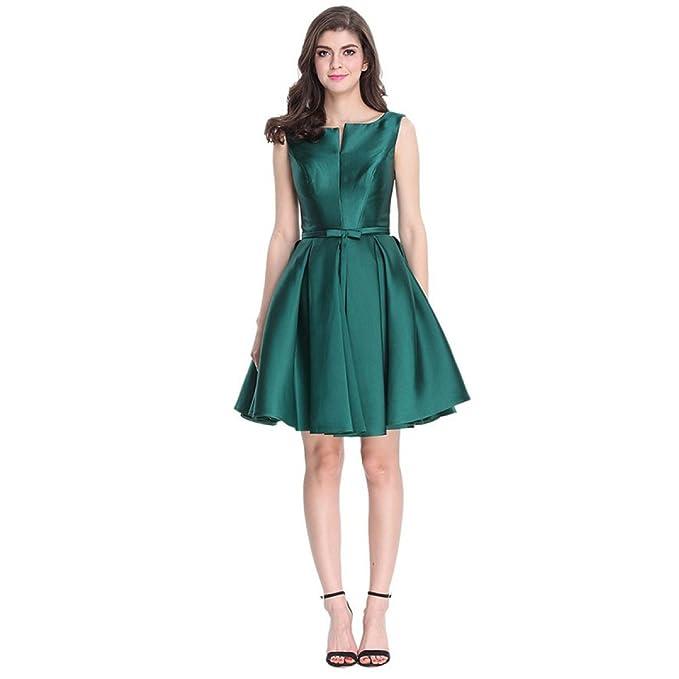 Vestido De Fiesta De Verano Sra MeiZiWang Citas,Green-XXL