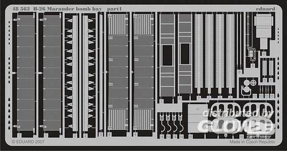 Eduard Accessories 48562Modélisme Accessoires B DE 26Marauder Bomb Bay pour Revell/Monogram Kit