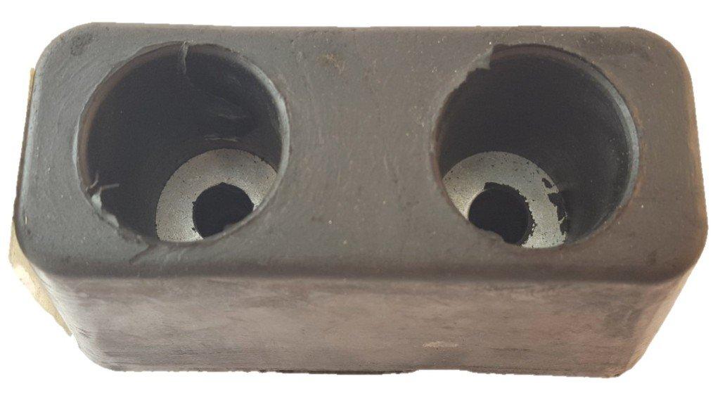 Dock Bumper 6 x 2-7//8 x 3-1//4 2 hole James King 3044