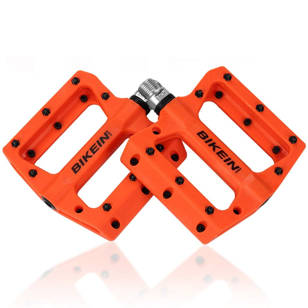 Wangze99 Pedal Mountain Bike 14mm Pedal de Rosca Universal Pedal Antideslizante Accesorios de Bicicleta Pedal ( Color : Orange )