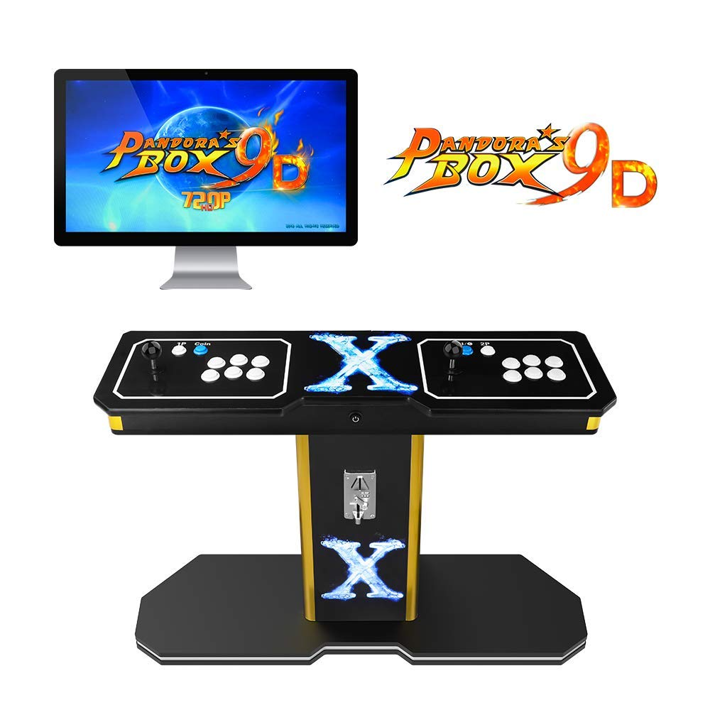 TAPDRA Pandora's Box 9D Vintage Retro Arcade Cabinet Machine with 2222 Games 2 Players Joystick HDMI and VGA 1280x720P HD Full-Size Commercial Wooden Console (with Coin Function) by TAPDRA (Image #1)