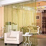 Cheap pureaqu Glitter String Curtains Party Events Silver Thread Fringe Doorway Panels Cute Strip Tassel Window Room Divider For Wedding Bedroom Living Room Wall Decoration 1 Panel W115 x L116 Inch