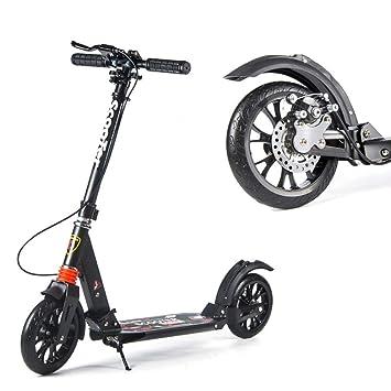 Patinetes Scooter Ajustable para Adultos con Frenos De Disco ...