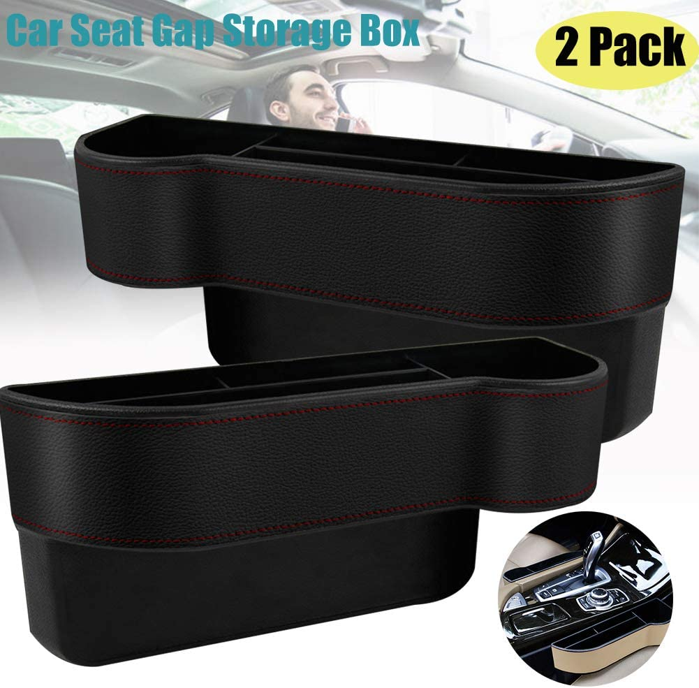 Holding Phone 2 Pack ISENPENK Car Seat Gap Storage Box,Car Seat Gap Storage Box Seat Gap Filler with Cup Holder,for Car Accessories Interior Beige Cup Holder Wallet