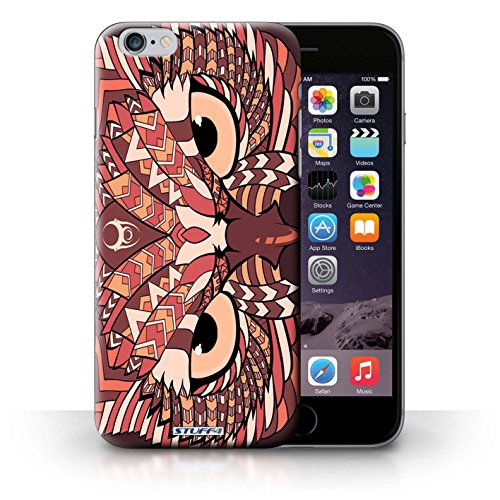 Hülle Case für iPhone 6+/Plus 5.5 / Eule-Rot Entwurf / Aztec Tier Muster Collection
