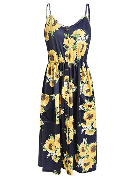 9d64a917a33 DressLily Floral Dress with Cami Dress  Amazon.co.uk  Clothing