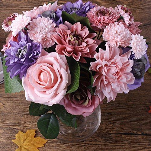 20 heads Artificial Flower Silk flower Rose Dahlia pinnata