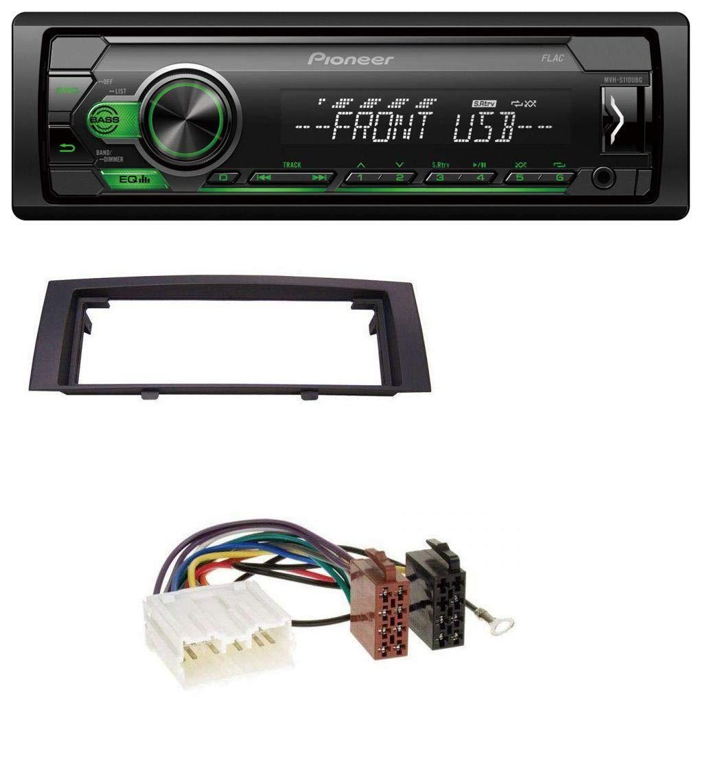 caraudio24 Pioneer MVH-S110UBG MP3 AUX 1DIN USB Autoradio fü r Mitsubishi Colt (2004-2008)