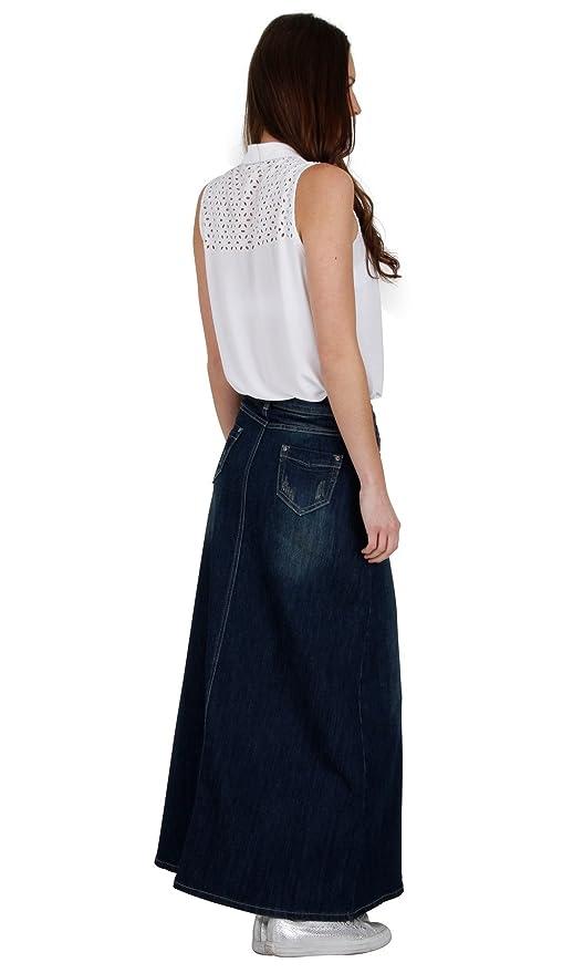 4fd7bbb211 Long Vintage Wash Denim Skirt SKIRT94 Womens Maxi Skirt Full Length Denim  Skirt SKIRT94-UK 8: Amazon.co.uk: Clothing