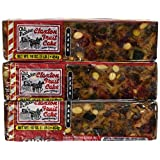 Fruit Cake Boxed 3 - 1 lb Dark Recipe Claxton Fruitcake by Claxton Fruitcake