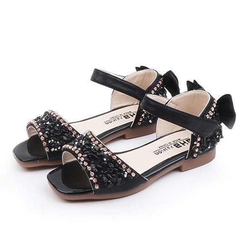 e08859c6226f4 Amazon.com: Luonita Kids Baby Girls Princess Sequin Sandals Closed ...