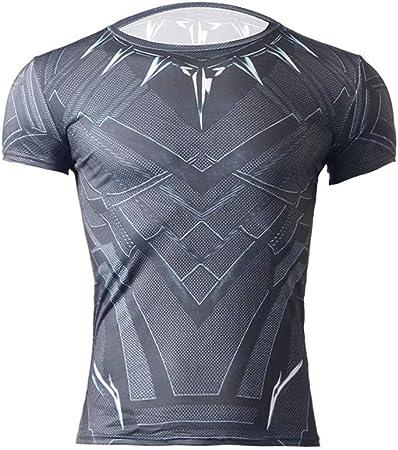 Camisa ajustada de compresión para hombre. Camisas de manga corta para hombre, de secado rápido y para correr, para ciclismo, entrenamiento, ejercicios, ejercicio gris Ejecutar Baselayer: Amazon.es: Hogar