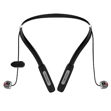 Auriculares inalámbricos Bluetooth auriculares con banda para el cuello, gulaki IPX4 resistente al agua sudor prueba ...