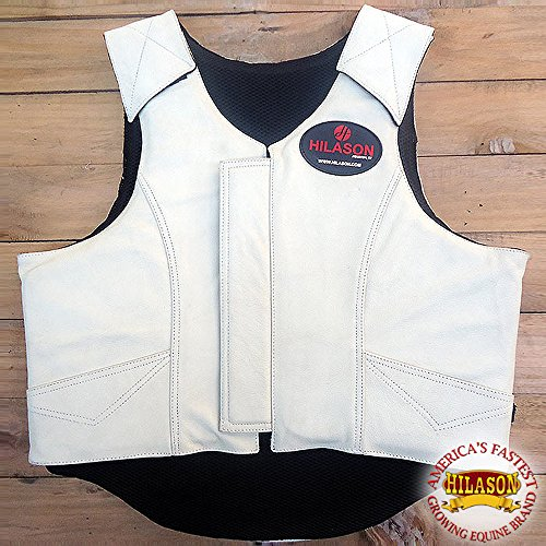 (HILASON Bull Riding Pro Rodeo Leather Protective Vest Gear Equipment Sml)