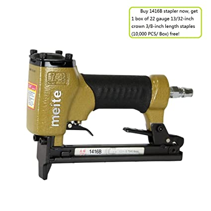 meite 1416B Upholstery Stapler 22-Gauge 13/32-Inch Crown 1/4-Inch to ...