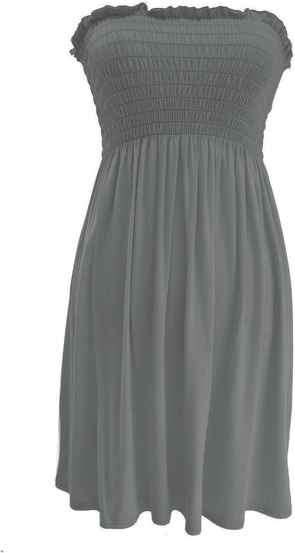 New Womens Ladies Sheering Top Strapless Bandeau Dress Top Jersey Ladies Plus Size Boobtube Top Dress