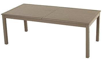 Table extensible aluminium Azua 12 personnes Hespéride taupe: Amazon ...
