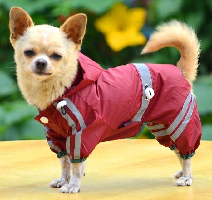 lovelonglong Hunde Regenmantel mit Hoodie Atmungsaktive Regenjacke mit Vier Beinen im Freien Einstellbare wasserdichte Regenjacke f/ür Kleine Mittel Gro/ße Hunde Bulldogge Der Dachhund Corgi.