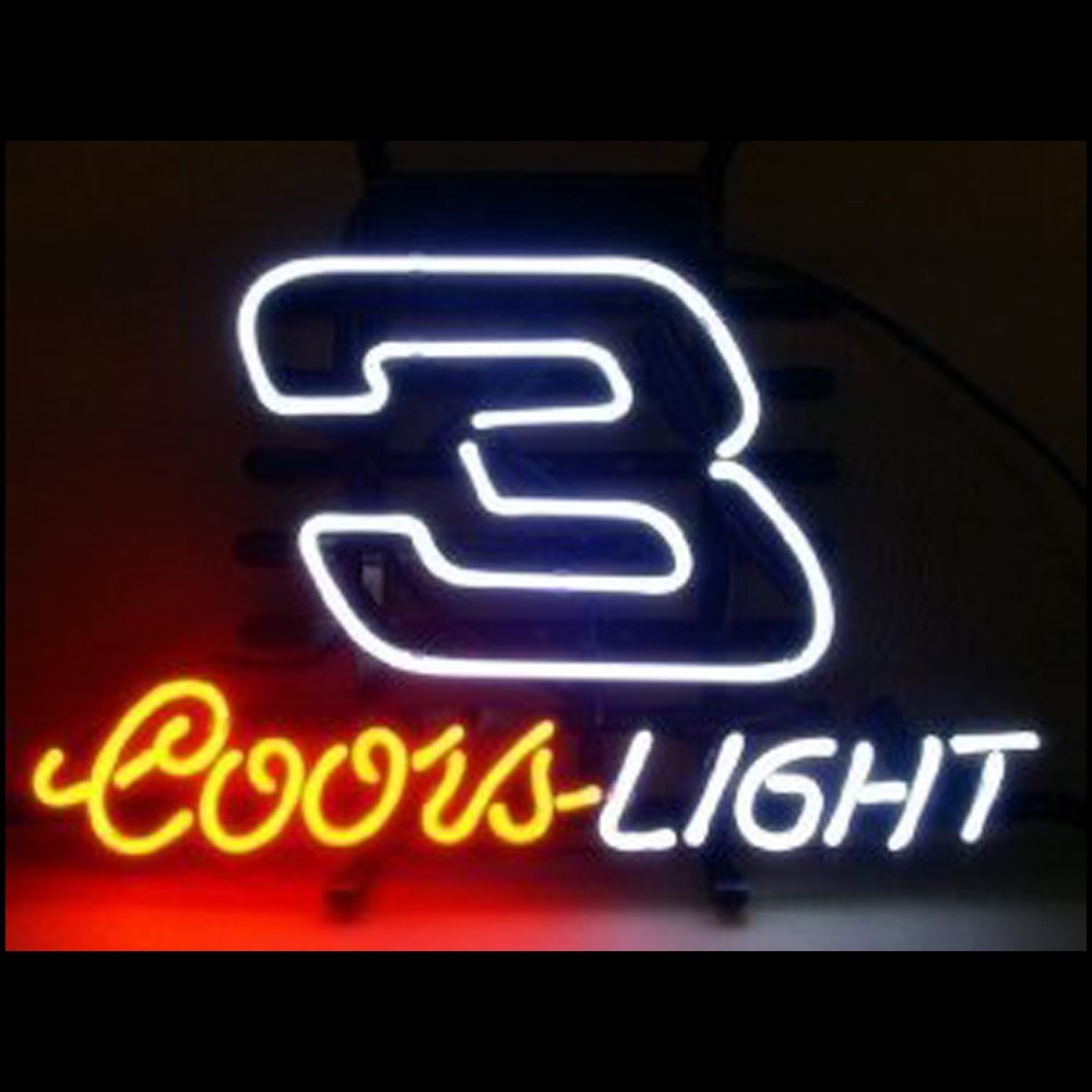 Coors Light NASCAR #3 DALE Beer Bar Pub Neon Sign Handcrafted 19x15.