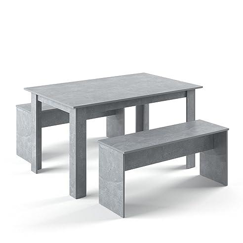 VICCO Tischgruppe 140 X 90 Cm   4 Personen   Esszimmer Esstisch Küche  Sitzgruppe Tisch Bank