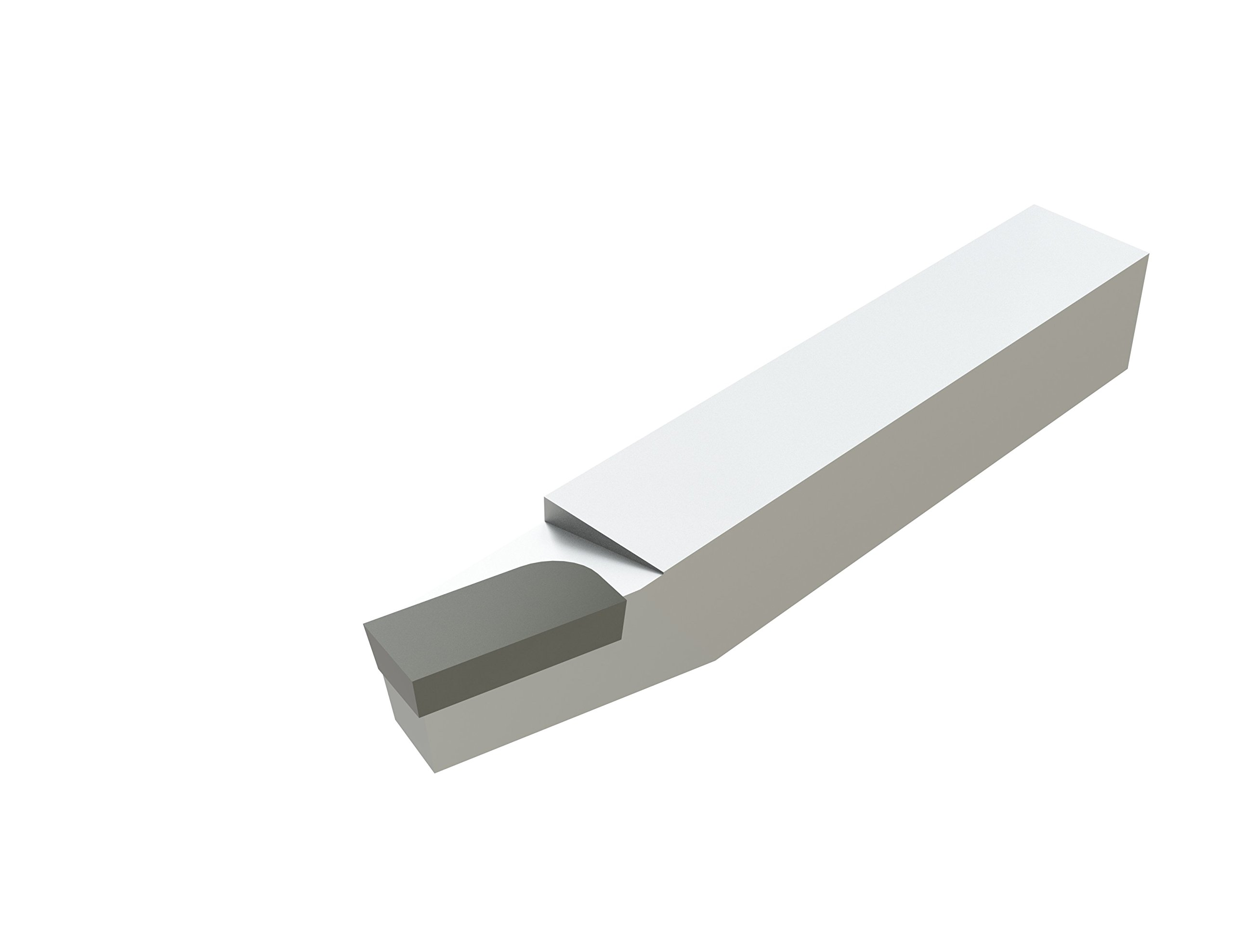 Micro 100 BR-6 Brazed Tool Right Hand Square Shank Diameter ''Style B'', 2.5'' Length, 3/8'' Width, 3/8'' Height, 1/8'' Thick, 1/4'' Width, 1/2'' Length, 1/64'' Radius