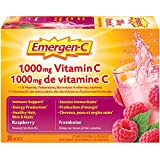 Emergen-C® Raspberry (30 Count), 1000mg Vitamin C / Electrolytes / B Vitamins Mineral Supplement