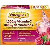 Emergen-C Raspberry (30 Count), 1000mg Vitamin C / Electrolytes / B Vitamins Mineral Supplement
