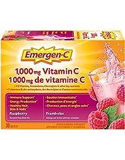 Emergen-C® Raspberry (30 Count), 1000mg Vitamin C / Electrolytes / B Vitamins Mineral Supplement