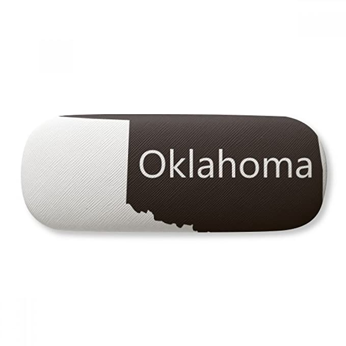 4f2c53a00277 Image Unavailable. Image not available for. Color: Oklahoma America USA Map  Silhouette Glasses Case Eyeglasses Clam ...