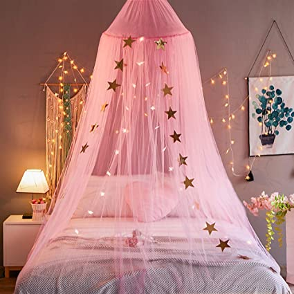 Image Unavailable & Amazon.com: Mengersi Bed Canopy Curtains Mosquito Net Stars for ...