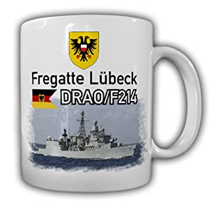 Frigate Luebeck callsign DRAO F214 ship Bundeswehr Marine sailor crew Reservist - Coffee Cup Mug