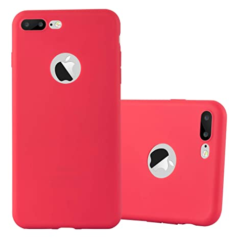 custodia iphone 7 plus rosso gel