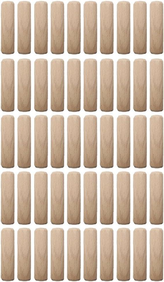 HSI Holzdübel geriffelt Buche 6 x 30mm 14 Stück Holzverbinder Holz Dübel 904401