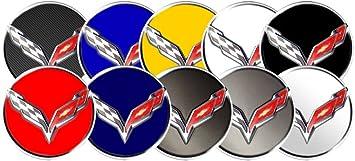 2014-2017 C7 Corvette Logo Center Cap Sticker Decals for Wheel Wheels Rim Rims